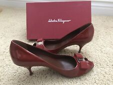 Ferragamo red patent leather heels size 10B/New With Box/ Saks Fifth Avenue!