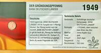 BRD Jägernr: 376 1949 D sehr schön Eisen, Kupfer 1949 1 Pfennig Eichenzweig D