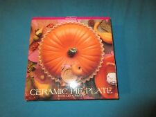 Pumpkin Pie Ceramic Pie Plate with Recipe & Lid By Home Trends Pie Keeper