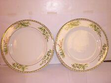 "Arte Italica 11"" Ceramic Dinner Plate With Fresh Herb Design SET OF 2 IMPERFECT"
