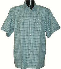Camicie casual e maglie da uomo a manica corta blu con colletto regolare