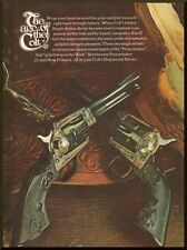 Vintage 1972 Gun World ad for Colt Revolvers. Peacemaker .22 & New Frontier .22