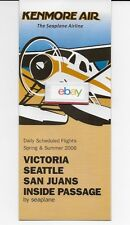 KENMORE AIR THE SEAPLANE AIRLINE 2006 SUMMER SCHEDULE D/H BEAVER-TURBO OTTER