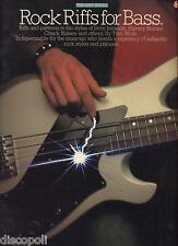 Rock riffs for bass - LIBRO SPARTITO USATO BUONE CONDIZIONI