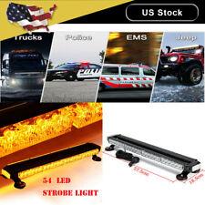 Catinbow 54Led Response Emergency Traffic Advisor Warning Strobe Light Bar-Amber