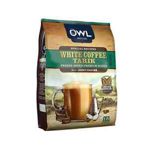 White Coffee Tarik Freeze-Dried Premium Blend Coconut Sugar Instant Coffee 15s