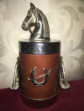 Rare Equestrian Themed Retro Cigarette Box The Top Surmounted With Horses Head