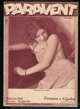 PARAVENT October 1933 Spicy Sexy French Pin-Up Girlie Magazine ART DECO Nudes vv