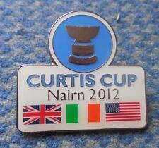 CURTIS CUP GOLF NAIRM GREAT BRITAIN IRELAND USA 2012 PIN BADGE