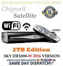 2TB SKY PLUS + HD BOX SATELLITE RECEIVER AMSTRAD DRX890W WiFi  5 YEAR WARRANTY