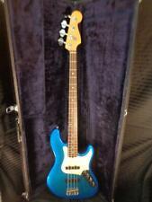 Vintage 1995-96 Fender American Deluxe JAZZ BASS Rosewood Fingerboard BLUE USA