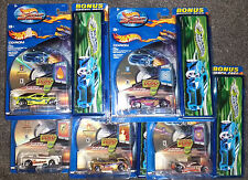 Lot 3 HOT WHEELS BACK to SCHOOL SET - 5 Pencil Cases & diecast cars Brand New NR