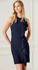 Next Navy Ruffle Front Shift Dress 18Tall