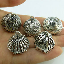 Mix 5X Earring Accessory Rabbit Lotus Carve Filigree Pendant Vintage Silver