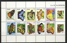 Aruba Butterfly block of 10 Scott 372 mnh vf 22.50