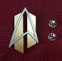 Star Trek Next Generation ALL GOOD THINGS Communicator Pin Combadge Com Badge