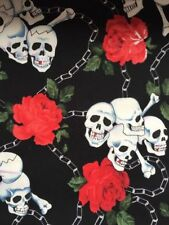 Crafts Fat Quarters, Bundles Skull 100% Cotton Fabric