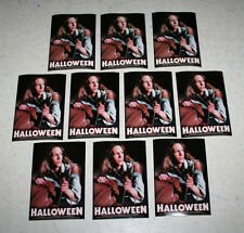 """Lot 10 Halloween Stickers 1978 Jamie Lee Curtis S-1554 C&D Visionary 5"""" x 3-3/8"""""""