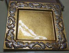 "CIRCLEWARE ""Victoria"" Square Embossed Cake Plate Plaque Server Glass Tray 13.5sq"