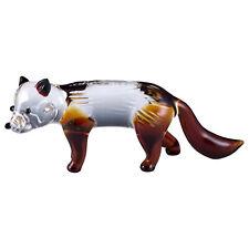 "Miniature Hand Blown Boro Glass Fox Figurine 3.25"" Long New"