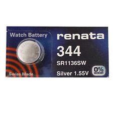 Renata Single Watch Battery Swiss Made Renata 344 or SR1136SW 1.55V Fast Ship