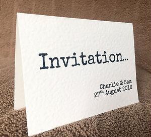 Personalised Contemporary Wedding Day/Evening Invitations & Envelopes. Samantha