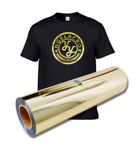 Heat Transfer Vinyl Gold Foil HTV Iron on Tshirt Garments Crafting Circuit Cameo