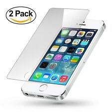2PK HIGH QUALITY PREMIUM REAL TEMPERED GLASS SCREEN PROTECTOR FOR IPHONE 5S 5C 5