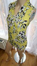 AJ sleeveless multi black yellow floral cami 14uk blouse TOP Collection debenham