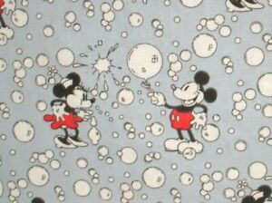 Springs Creative Disney Mickey Minnie Vintage Bubbles Cotton Fabric BTY