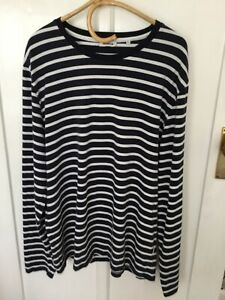 Marcs Stripe Stretch Cotton Long Sleeve Top Size XL
