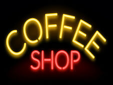 Coffee Shop Neon, Retro metal Aluminium Sign vintage / man cave / Bar/ Pub