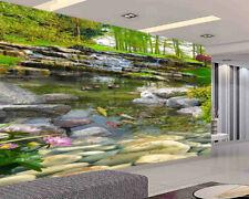 Water Layer Fish 3D Full Wall Mural Photo Wallpaper Printing Home Kids Decor