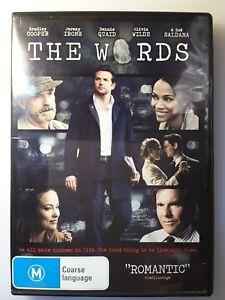 The Words DVD Bradley Cooper - Jeremy Irons - Olivia Wilde REGION 4
