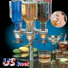6 Bottle Bar Beverage Liquor Dispenser Alcohol Drink Shot Cabinet Stand Rotary