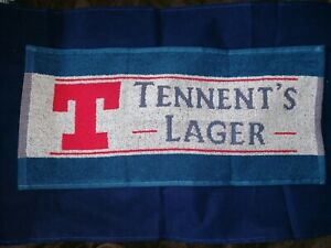 Tennent`s Lager bar towel -Ideal for Man Cave  Bar Shed. New