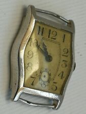 Vintage Solid Silver Rival 15 Jewels Wrist Watch  William Sparrow Hinged Case