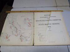 1944 SENATE REPORT STATE HIGHWAY REVENUE Vol. II Infrastructure PHOTOS LARGE SH8