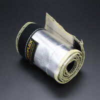 "3"" 10Ft Metallic Insulated Heat Shield Sleeve Wire Hose Cover Wrap Loom Tube"