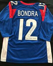 Peter Bondra Autographed Slovackian Custom Jersey 2002 World Champs Inscription