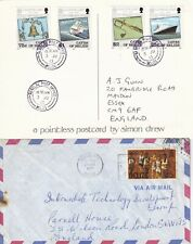 U3045 Belize 12 different covers / postcards mainly to UK; 1977 - 2013