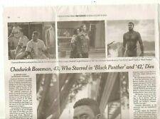 Chadwick Boseman 43 Obituary New York Times Actor 42 Black Panther