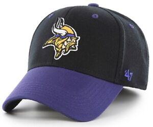 Minnesota Vikings NFL '47 Kickoff Contender Black Two Tone Hat Cap Stretch Fit