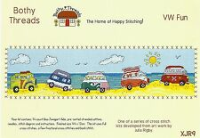 BOTHY THREADS VW CAMPER FURGONETA DIVERTIDO EN EL COSTA KIT DE PUNTO DE CRUZ
