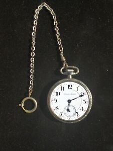 1907 Hamilton Pocket Watch 21 JEWELS--5 Positions LEVER SET Railroad Watch WORKS