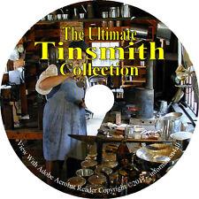 5 Books on CD, Ultimate Tinsmith Collection, Tinsmithing Tin Tinner Tinplate