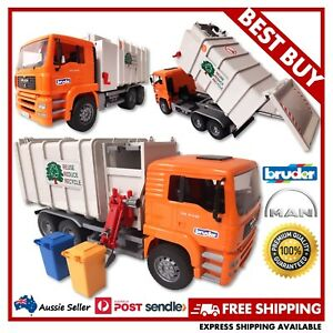 BRUDER MAN TGS Side Loading Garbage Truck 1:16 #03761 -EXCELLENT USED, FREE POST