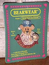 Boyds Bears 2000 ~Greg Mcbruin.The Wind Up~ Bearwear Pin Style#26141