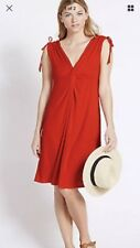 M&S red beachwear holiday swimsuit cover up dress BNWT size 14 knot bustline Fpp