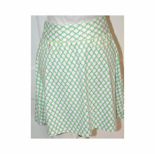 J. MCLAUGHLIN Green & White Lattice Print Stretch Skirt Sz 4